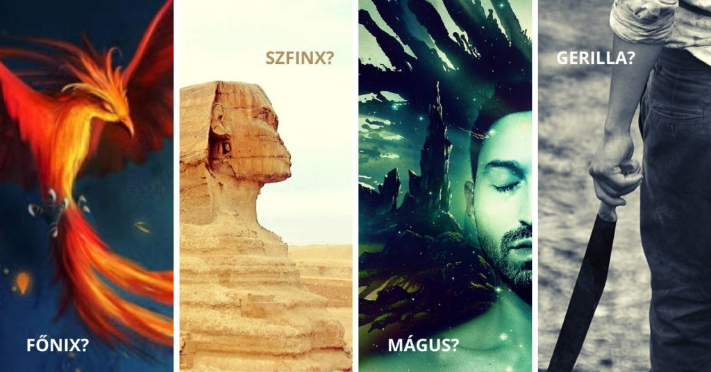 4 figura: főnix, szfinx, mágus, gerilla