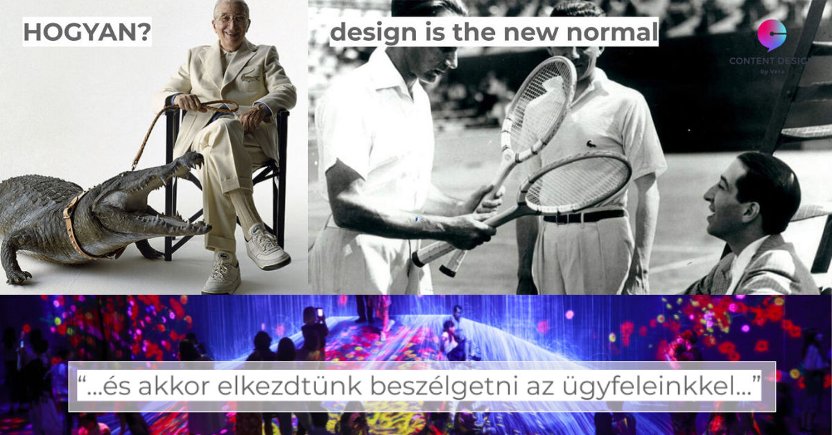 """Design is the new normal"" – vagy ez mindig is így volt?"